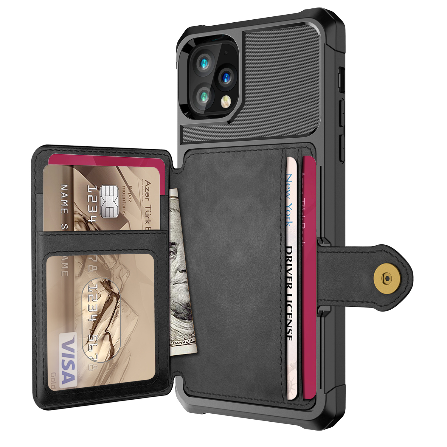 for Apple iPhone 11 Pro Max 11 2019 Case, Credit Card PU Leather Flip Wallet Photo Holder Hard Back Cover For iPhone 11 Max 2019