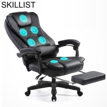 Bureau Meuble Lol Escritorio Sedie Ergonomic Sessel Sillones Stoelen Gamer Leather Silla Gaming Cadeira Massage Office Chair