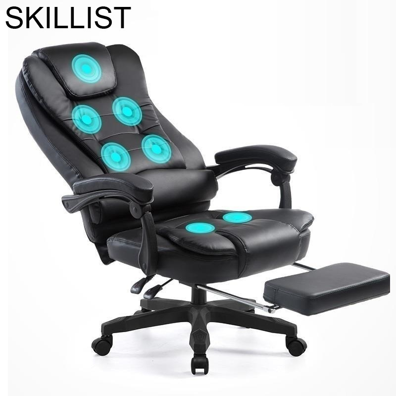 Bureau Meuble Lol Escritorio Sedie ergonomique Sessel Sillones Stoelen Gamer cuir Silla Gaming Cadeira fauteuil de Bureau Massage