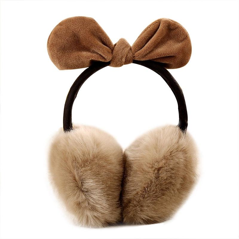 New Lovely Rabbit Fur Winter Earmuffs Ear  Warmers Winter Comfort Earmuffs Warm Winter Earmuffs For Women Girls  Fur Headphones
