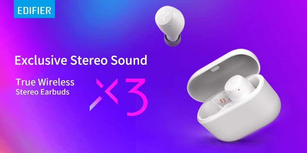 Edifier X3 Wireless Bluetooth Earphone Tws Bluetooth V5 0 Support Aptx Voice Assistant Touch Control Ipx5 24hours Playback Bluetooth Earphones Headphones Aliexpress