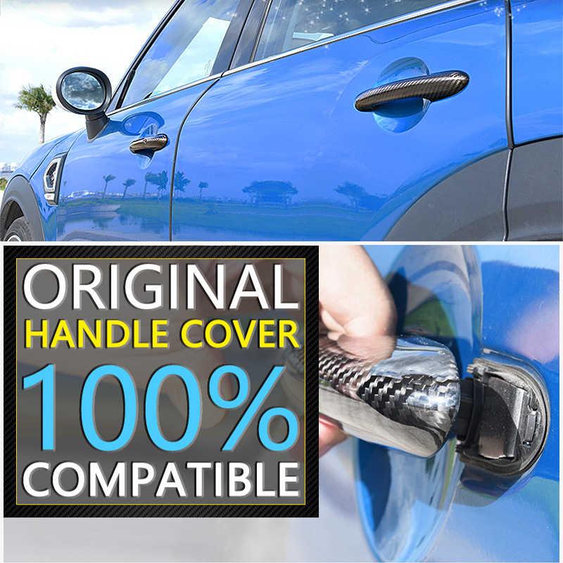 Negro de fibra de carbono para Peugeot 3008 2008 ~ 2016, 2009, 2010, 2011, 2012, 2013, 2014, 2015 cubierta cromada de manija de puerta Refit coche accesorios