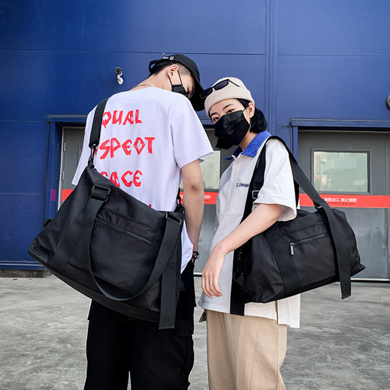 Fashion Black Sport Handbag Waterproof Travel Gym Bag Men Women Yoga Duffle Bag Big Capacity Outdoor Study Shoping Luggage Bags