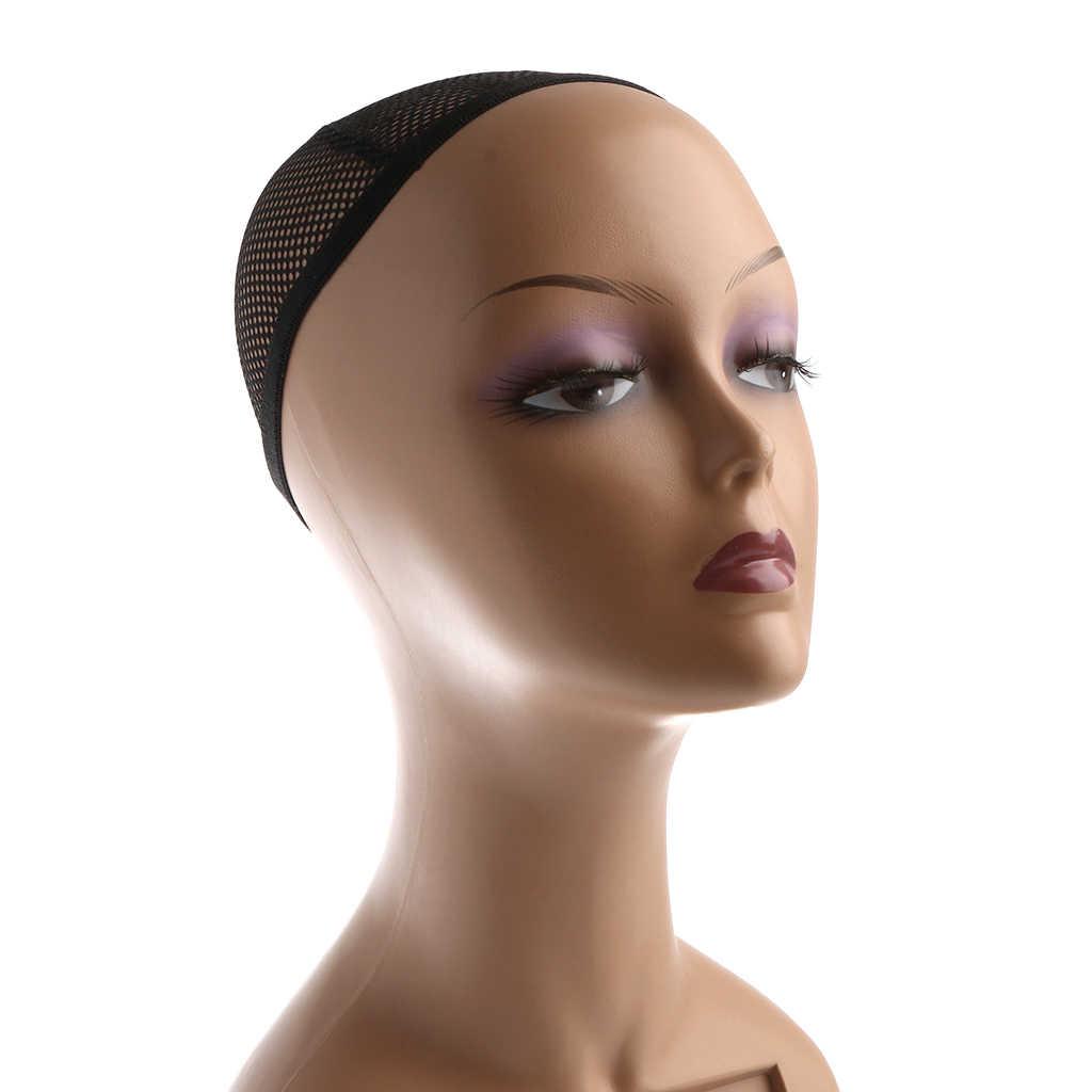 Femmina di plastica Mannequin Testa del Manichino Modello Del Basamento per Occhiali Cappello Parrucca Sciarpe Display a led con trasporto Net Cap