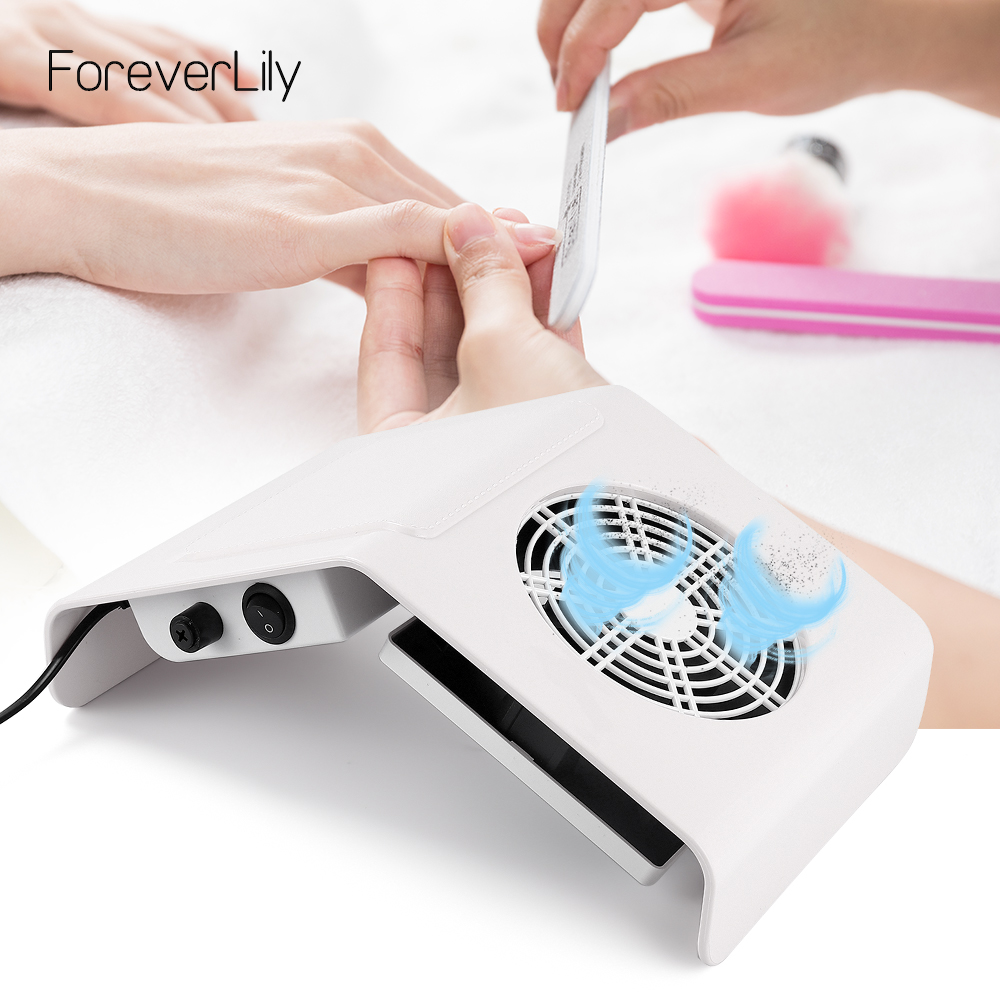40W Nail Dust Collector Nail Dust Suction Vacuum Cleaner Nail Dust Fan Nail Dust Suction Manicure Machine Tools Nail Art Salon