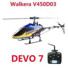 Walkera V450D03 вертолет 3D Fly 6-осевая стабилизация Системы с одним лезвием Профессиональный 6CH дистанционного Управление вертолет