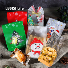 Bag Christmas Packaging-Bags Cookie-Gift Hand-Made Plastic Biscuit Taste Dessert Lbsisi-Life