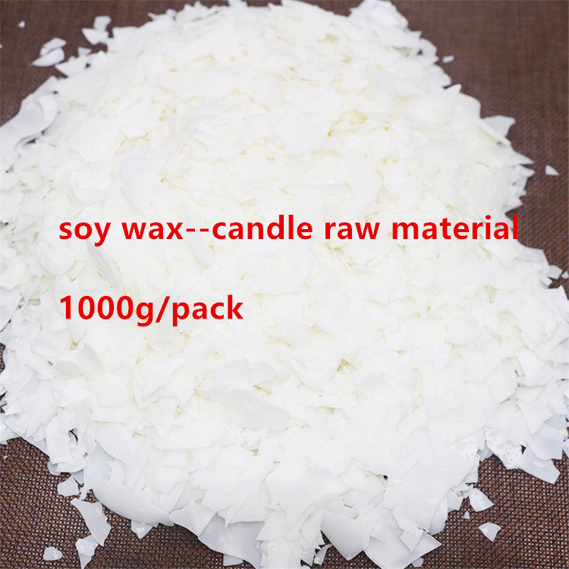 1000g Pure Soy Wax Flakes Scented Candles Materials DIY Wax Candle Making Supply Handmade Gift Waxing