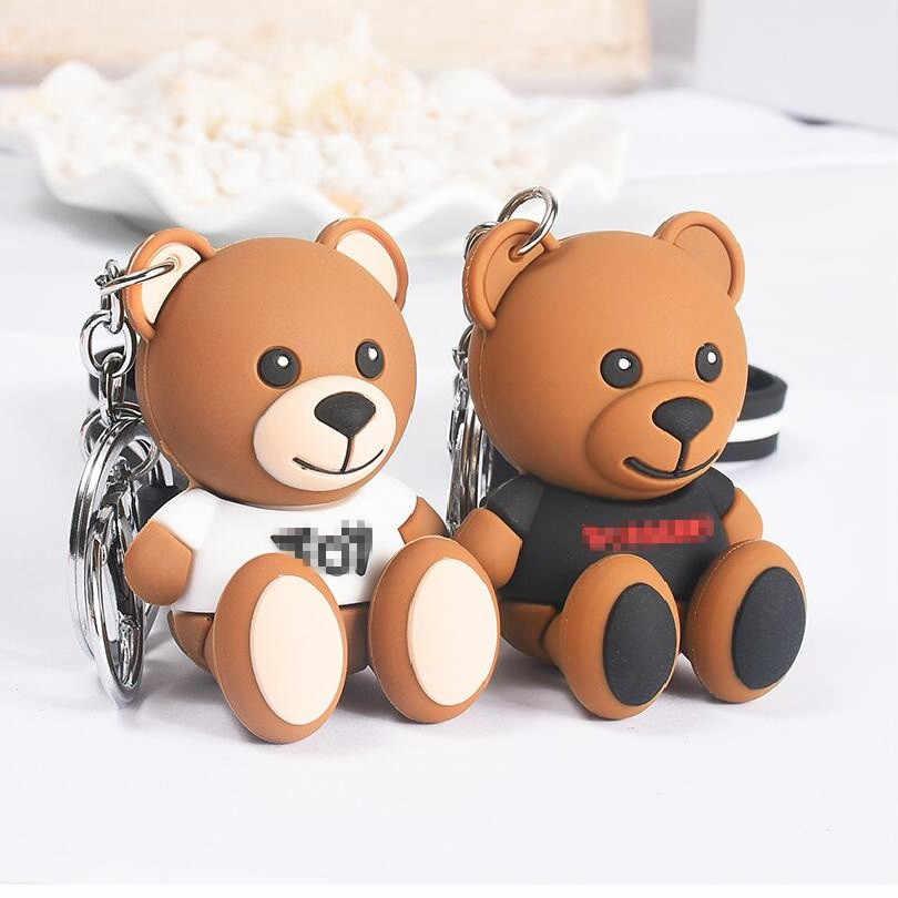 Bonito Dos Desenhos Animados Urso Keychain Presentes Para Mulheres Meninas Bolsa Pingente Epóxi carta Encantos Chave Jóias Cadeias PVCThe porte chaveiro