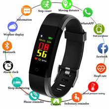 115 Plus Smart Bracelet Fitness Tracker Color Screen Sports Smartband Blood Pressure Heart Rate Sleep Monitor Wristband Relogio ky7 color screen smart wristband sports bracelet heart rate blood pressure oxygen monitor fitness tracker for iphone x 8 plus