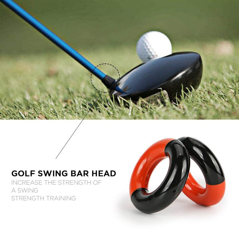 Golf Swing Practic Metal Round Weight Power Swing Ring For Golf Clubs Warm Up Golf Training Aid Golfing Weighted Practice Tool
