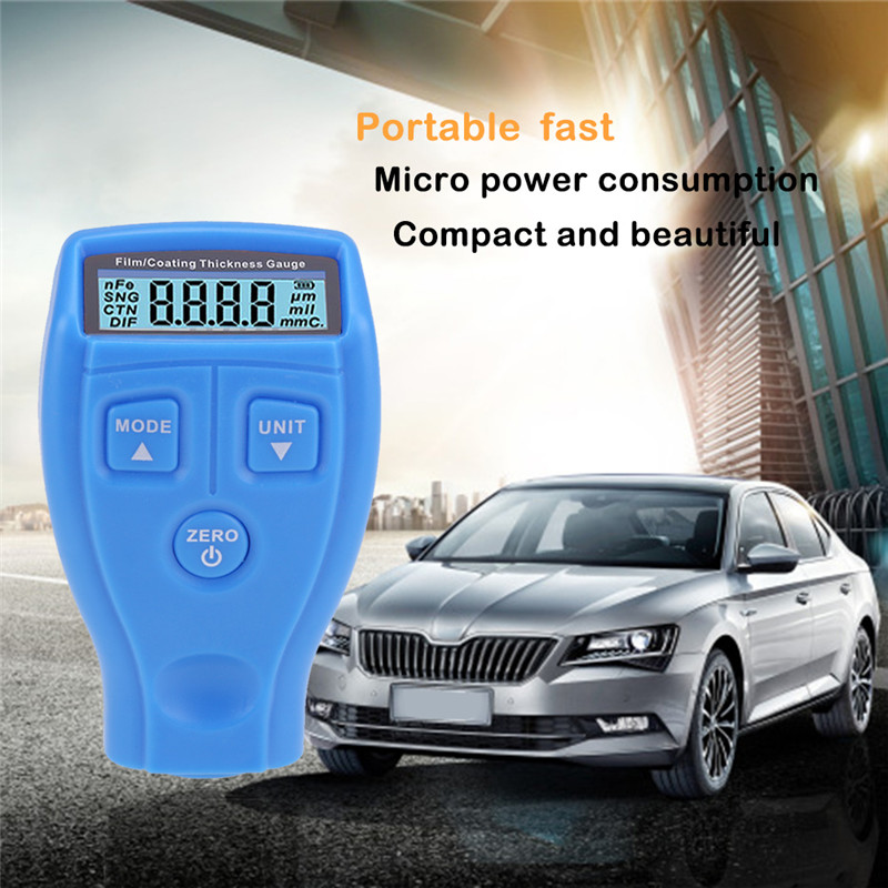 Car Paint Thickness Gauge Portable Paint Coating Meter With LCD Display Thickness Measurement Instruments Meter Tester