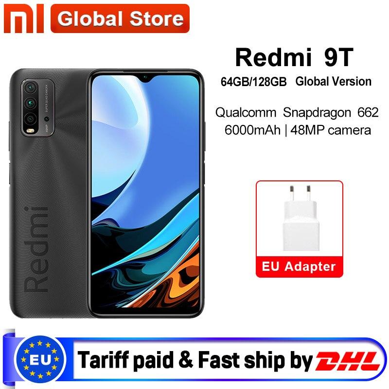 Światowa premiera globalna wersja Xiaomi Redmi 9T 4GB 64GB /4GB 128GB /6GB 128GB Smartphone Snapdragon 662 48MP tylna kamera 6000mAh