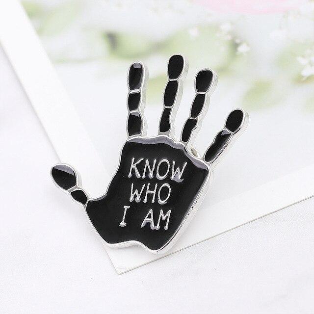 Punk ręcznie metalowe kołki broszki OK Yeah dobry Rock Finger Signal emalia Pin odznaki różne gesty biżuteria dla kobiet mężczyzn dzieci prezent