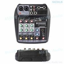 Qx4 компьютерная usb аудио микрофона звук консольный микшер