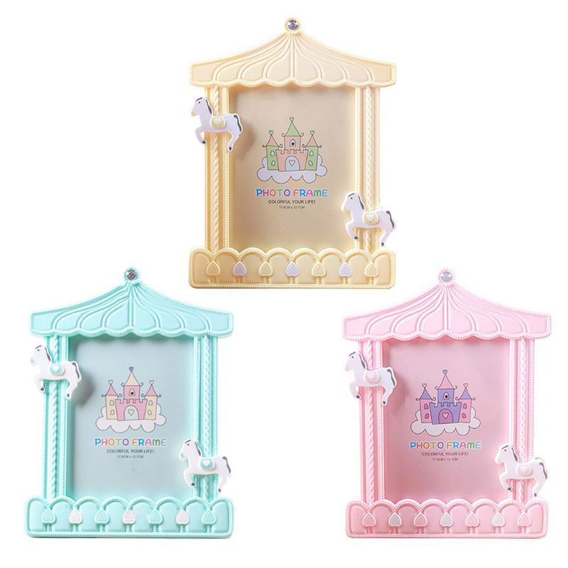 Creative Baby Cartoon Trojan Photo Frame Kids Birthday Gift Picture Holder Desktop Home Decoration Family Ornaments