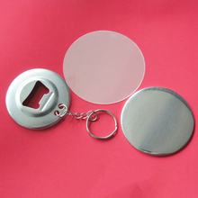 100 Sets 56MM button badges with bottle opener key ring keychain button badge blank material