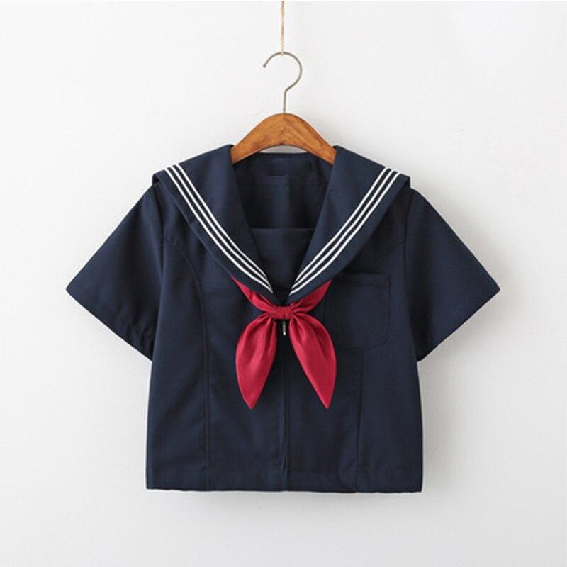 New Fashion School Uniform Shirt Tops For School Girls Hot Student Performance Chorus Sailor Tops Japanese Style JK Uniforms