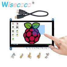 7 pulgadas Raspberry Pi Modelo B 3B Plus pantalla LCD pantalla táctil capacitiva 1024*600 TFT Win7 8 10