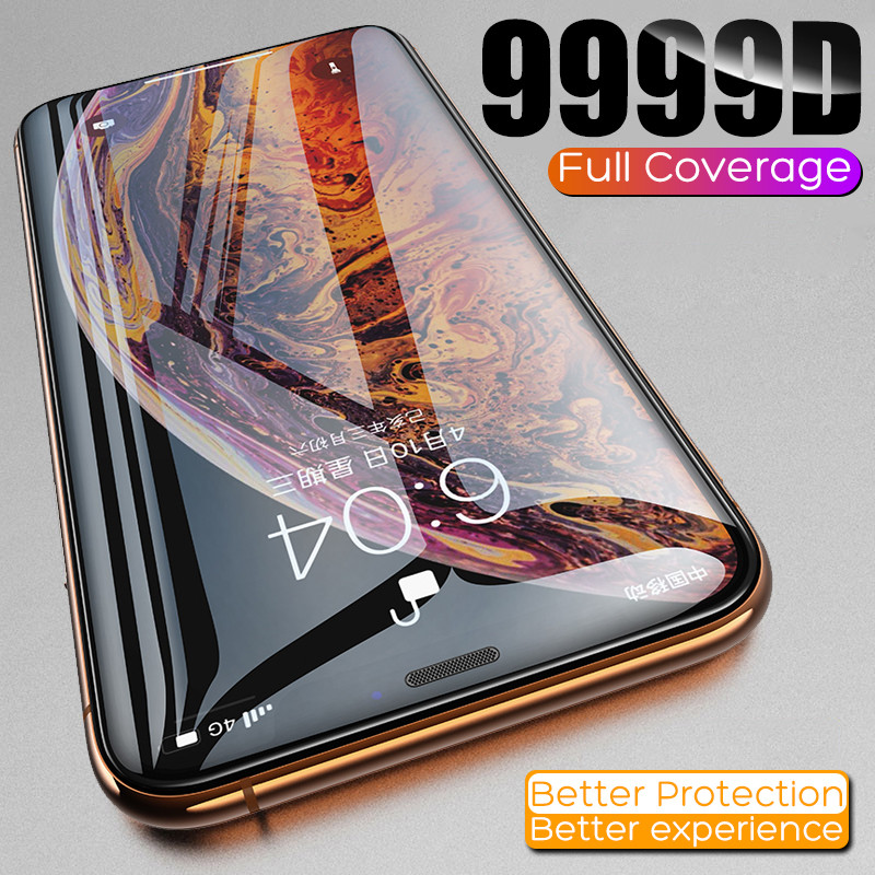 9999D Full Cover Protective Glass on The For iPhone 7 8 6 6s Plus Tempered Screen Protector For iPhone 11 Pro X XR XS Max Glass 1
