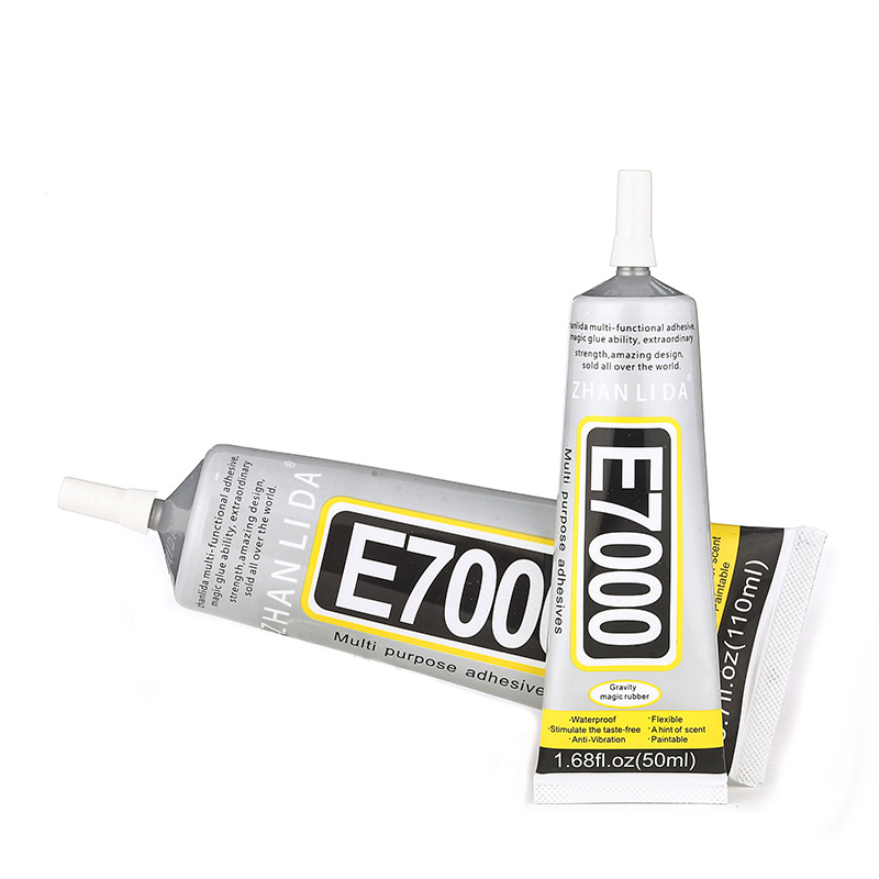50ml Industrial Super Liquid Glue E7000 E-7000 Adhesive Metal Rubber Epoxy Resin B-7000 School UV Wood Fabric Transparent Clear image