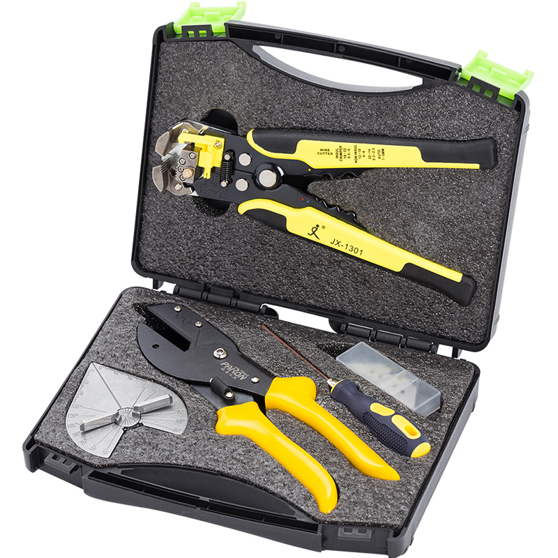 Hand Tool Set General Household Repair Hand Tool Kit Universal Angle Cutter Mitre Shear Scissors Terminals Wire Stripper Tools