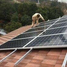 цена на Solar System 5KW Grid Tie Solar Panel 300w 30v Solar Inverter MPPT Pure Sine Wave 5KW 220V Cable Connector Roof Mount on Grid