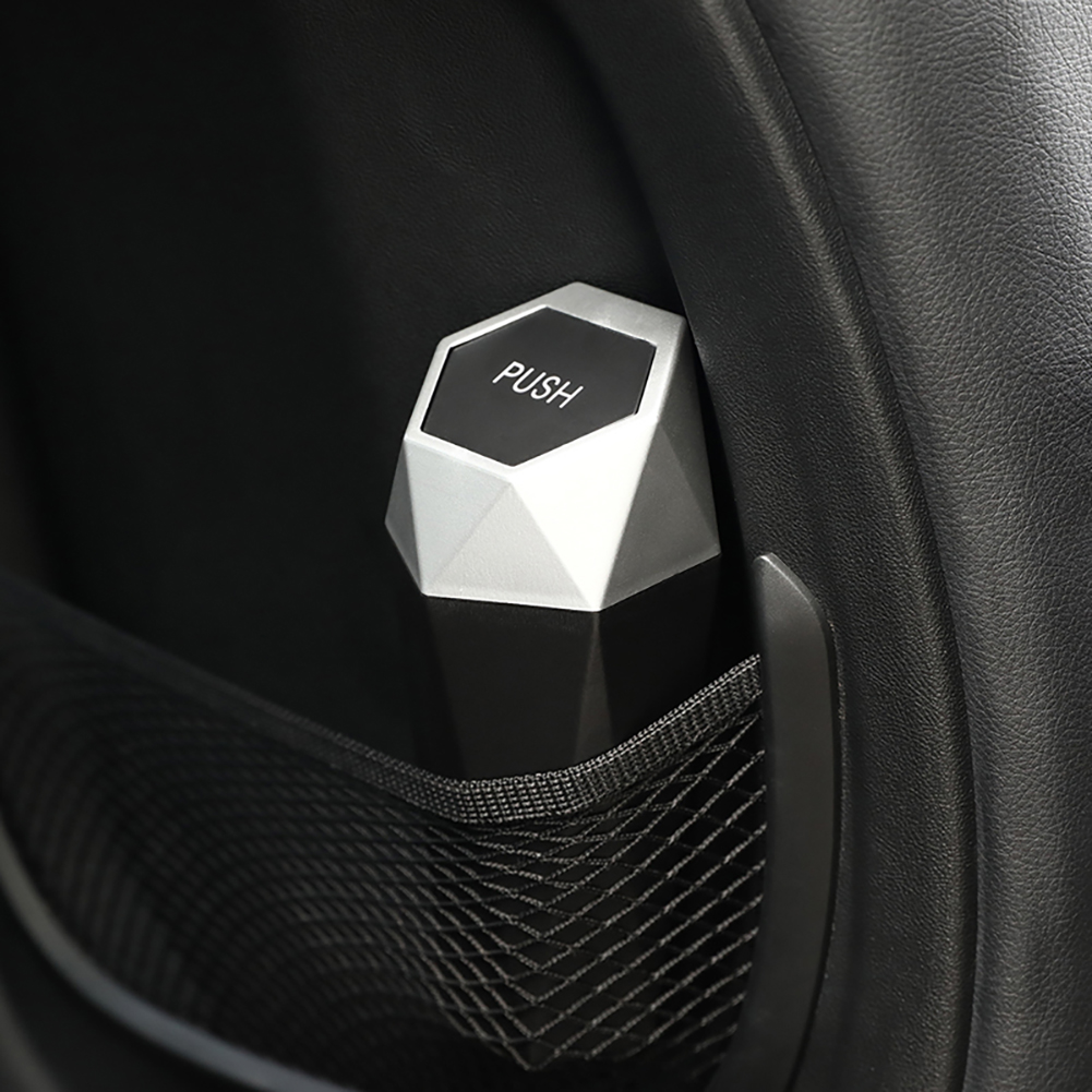 Home Auto Organizer Storage Bag Mini Car Garbage Bin for Automotive Car Leakproof Vehicle Trash Bin Kitchen New Car Dustbin Diamond Design Car Trash Can with Lid Office Bedroom