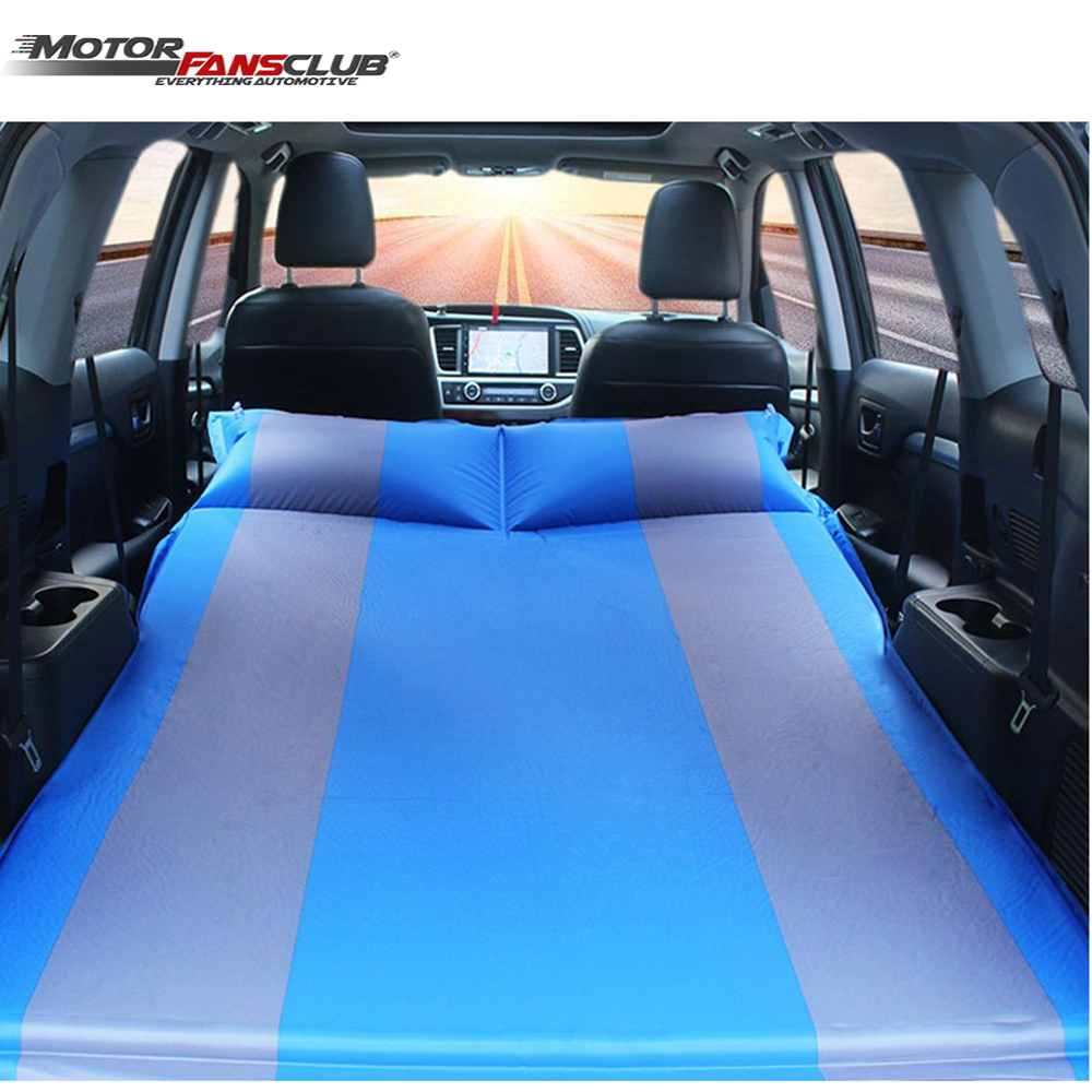 188*130cm SUV Inflatable Car Travel Bed Camping Adjustable Air Mattress Seat Cover Pillow Flocking Moisture-Proof Kids