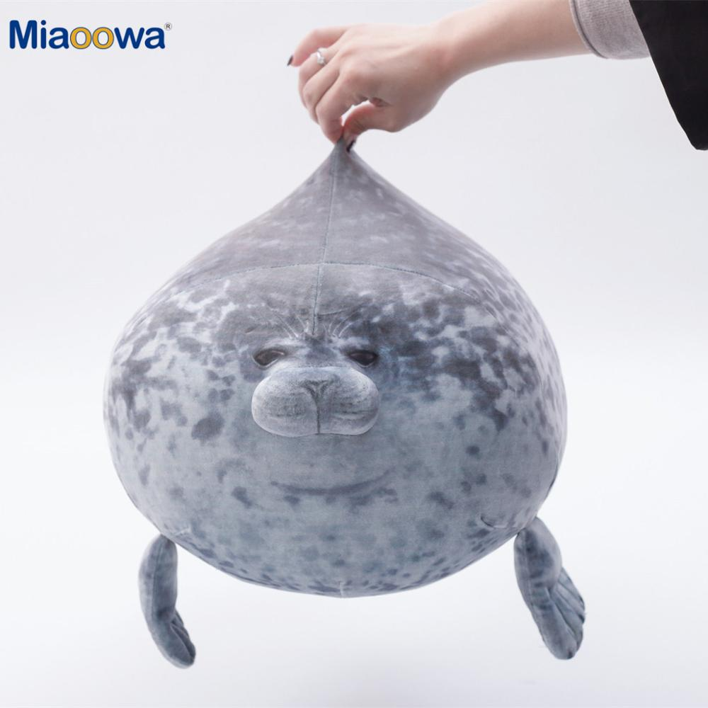 20-80cm Cute Sea Lion Plush Toys 3D Novelty Throw Pillows Soft Seal Plush Stuffed Plush Housewarming Party Hold Pillow BabyGift(China)