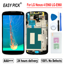 LCD Display Touch Screen Digitizer Assembly For LG Nexus 4 E960 LG-E960 in Mobile