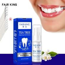 Tea Tree отбеливание зубов пудра с эссенцией гигиена полости рта Чистящая сыворотка удаляет зубной налет пятна Отбеливание Зубов Стоматологический Инструмент зубная паста