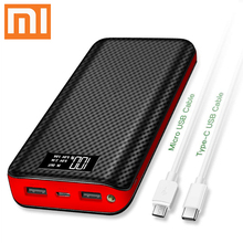 Xiaomi brand Type-c 2Usb QI 30000mAh Power Bank Waterproof L