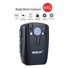 1296P 14MP FHD 64GB Video Recorder IR Night Vision Security Police DVR Body Worn Camera Wearable Mini Camcorders police camera