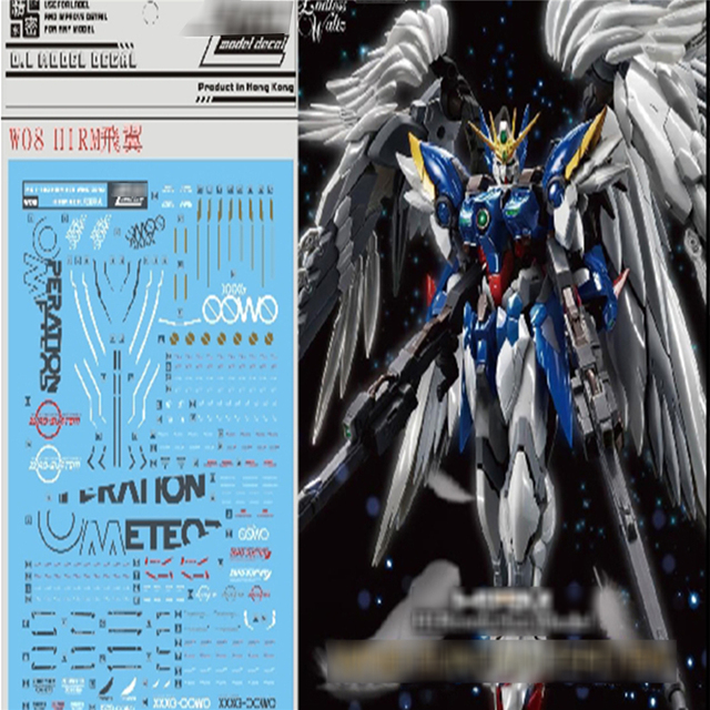 DL Decal Water Paste for Bandai HIRM 1/100 Wing Zero XXXG 00W0 Gundam Decorative Stickers