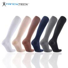 Fancyteck calcetines de compresión para la circulación sanguínea, para hombre, antifatiga, hasta la rodilla, 6 pares