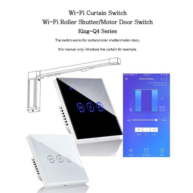 App Wifi Press Switch Roller Shutter Switch Blinds Curtain Switch Alexa