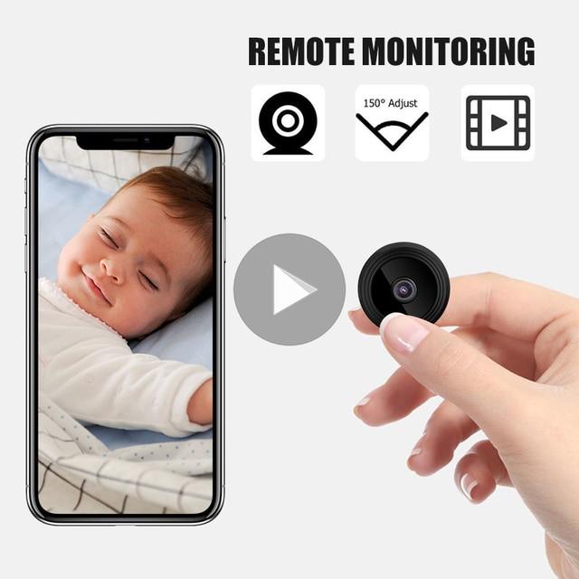 Wireless Hidden Monitor Mini IP WIFI Camera New 3