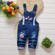 BibiCola Spring Fall baby Overalls jeans clothes newborn children denim overalls jumpsuits for toddler/infant girls bib pants
