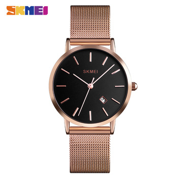 SKMEI Luxury Brands Female Quartz Watches Fashion Stainless Steel Strap Women Watches Ladies Wristwatches Relogio Feminino 1530