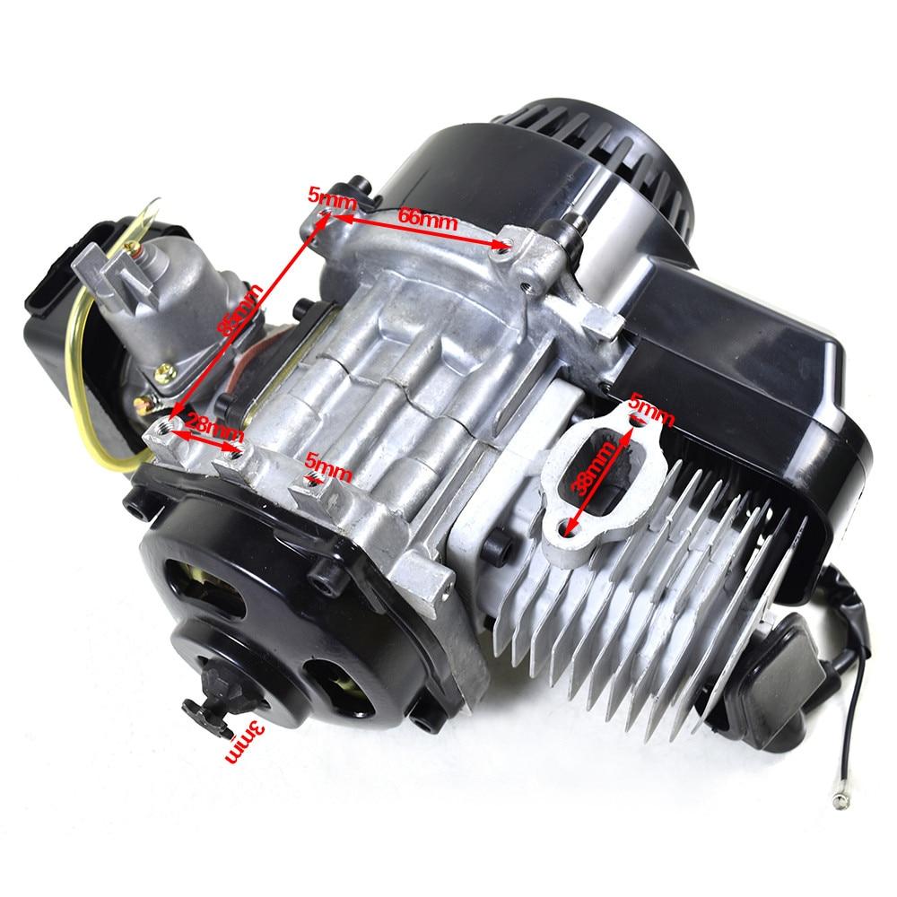 TDPRO 49cc Gas Engine 44mm Cylinder Head Set Piston for Motorized Bicycle Bike
