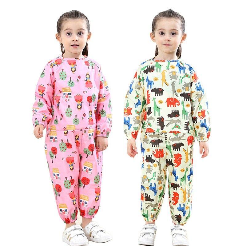 Image 2 - Yuding Cartoon Waterproof Raincoat Children Kids Baby Rain Coat Overall Boys Girls Painting Clothes Playful Water Suit 70 120CMRaincoats   -