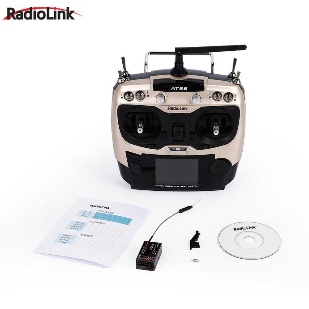 1pcs Radiolink AT9S 2.4G 9CH System Transmitter with R9DS Receiver AT9 Remote Control update vision for quadcopter Helicopter