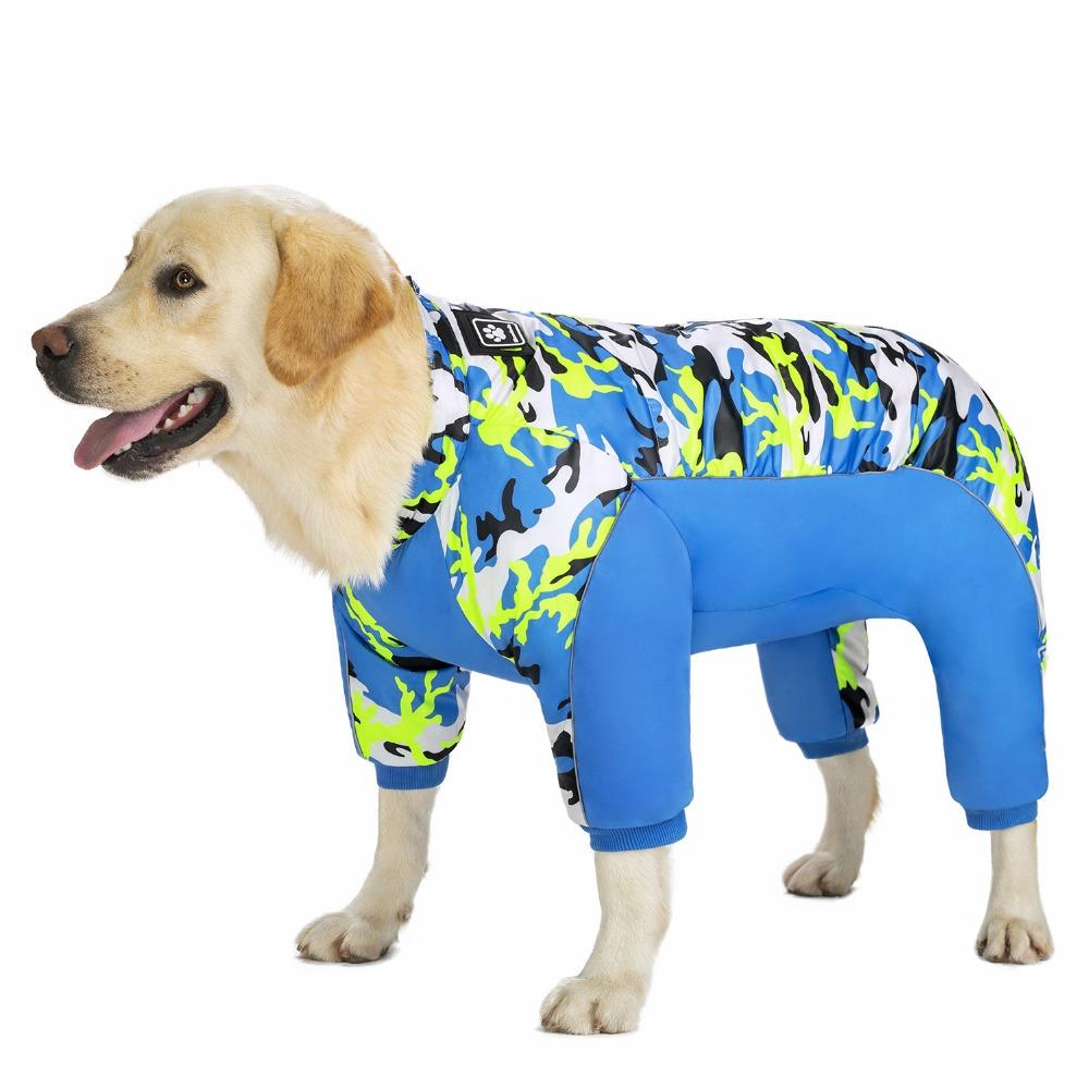 Reflective Large Dog Overalls Winter (1)