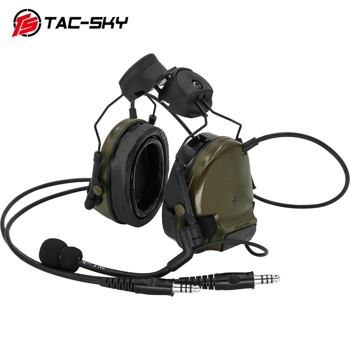 TAC-SKY COMTAC Tactical Bracket Headset Comtac Iii Dual Communication Silicone Earmuff Helmet Bracket Military Tactical Headset