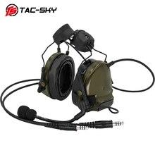 TAC SKY comtac tático suporte fone de ouvido comtac iii dupla comunicação silicone earmuff capacete suporte militar tático fone