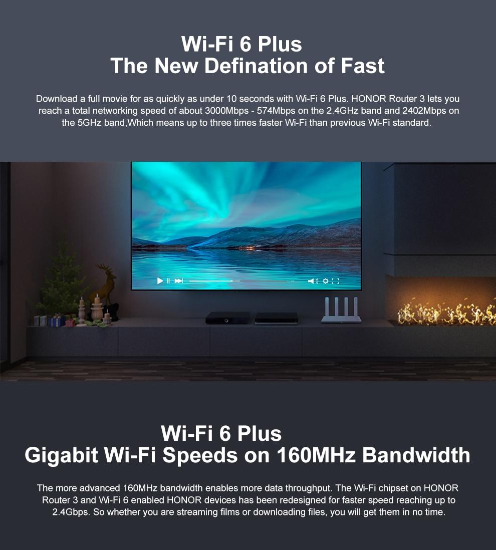Huawei-roteador sem fio honor z6, wi-fi, 6