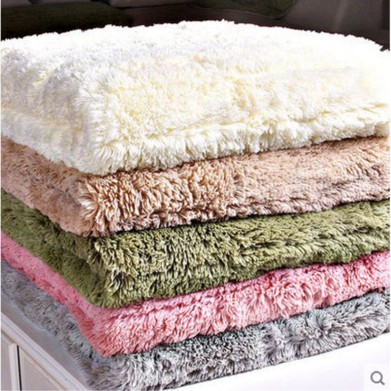 New Plush Sofa Covers Towel Solid Color Soft Couch Cover Slipcover Seat  For Living Room Bay Window Pad  L-shaped Sofa Decor