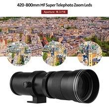 Camera Mf Super Telezoom Lens F/8.3-16 420-800Mm T2 Mount W/Ai-Mount Adapter Ring Voor Nikon Ai-Mount D50 D90 D5100 D7000