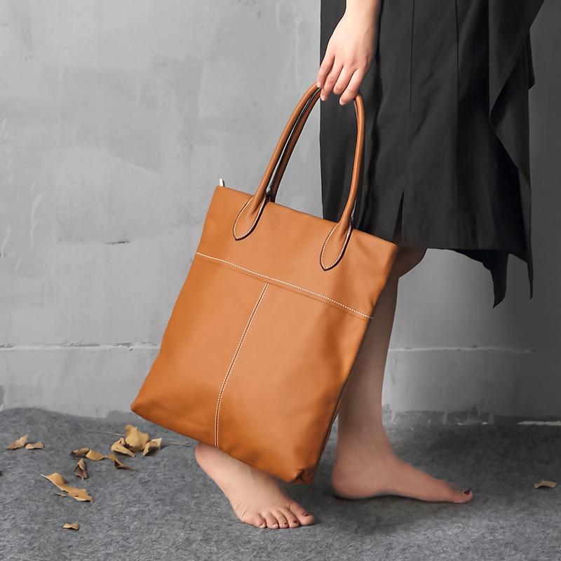 Vaca genuína bolsa de couro das senhoras inverno bolsas de couro das mulheres grande feminino bolsa de ombro preto sacos de mão para as mulheres 2019 - 4